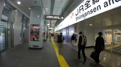 Tokyo Japan local crowds in Tokyo Station downtown train station and shopping - stock footage