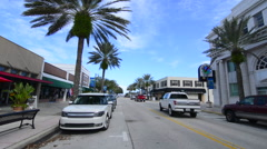 New Smyrna Beach Florida downtown Canal Street with shops and restaurants with Stock Footage