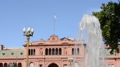Buenos Aires Argentina Plaza de Mayo with Pink House Casa Rosada in square in - stock footage