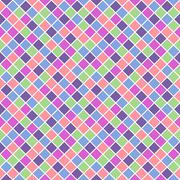 Seamless pattern - saturated pastel color rhombuses with white lining - stock illustration