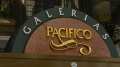 Buenos Aires Argentina sign Galerias Pacifico famous Mall for shopping and - stock footage