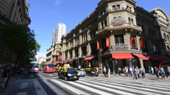 Buenos Aires Argentina Galerias Pacifico famous Mall for shopping and dining in Stock Footage