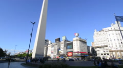 Buenos Aires Argentina 9 de Julio Avenue the widest street in the world with Stock Footage
