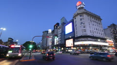 Buenos Aires Argentina 9 de Julio Avenue the widest street in the world with - stock footage