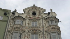 Low angle view of Helbling Haus in Innsbruck Stock Footage