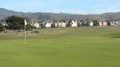 Half Moon Bay California Ritz Hotel  Golf Course, Half Moon Bay Golf Links 18th Stock Footage