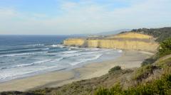 Pacific Coast Highway #1 California below Pebble Beach near Carmel beautiful - stock footage