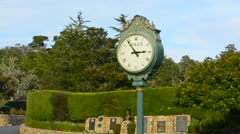 Stock Video Footage of Pebble Beach California clock at Pebble Beach Golf Links exclusive golf course