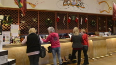 Plymouth California wine tasting at the Bella Piazza Winery with tourists - stock footage