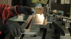 Technological metal processing Stock Footage