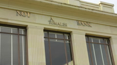 Tomales California on PCH #1 at Not A Bank restored bank building in Marin Stock Footage