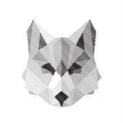 wolf engraved sign illyustrat vector animals - stock illustration