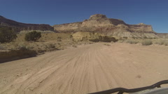 Off road 4x4 dry river canyon POV HD Stock Footage