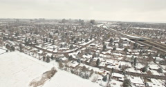 Aerial view of Daytona lightrail station in the Winter. Stock Footage