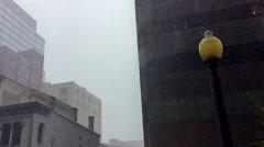 Lightpost in Downpour of Rain - stock footage