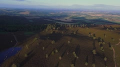 Aerial view - Eildon Hills, Scottish Borders Stock Footage