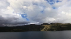 Lake near middle of the world lock down Ecuador. Stock Footage