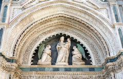 Cathedral of Santa Maria del Fiore Architectural Detail Stock Photos