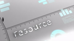 Resource decreasing chart, statistic and data Stock Footage
