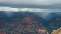 Waimea Canyon State Park Time Lapse, Grand Canyon of the Pacific - stock footage