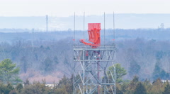 Radar Communications Tower at Washington Dulles IAD Airport Stock Footage