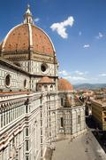 Dramatic View of the Cathedral of Santa Maria del Fiore in Florence, Italy - stock photo