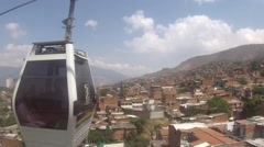 Cable car over Medellin - stock footage