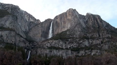 Upper And Lower Yosemite Falls White Clouds Stock Footage