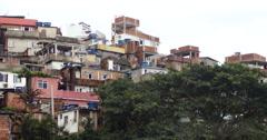 Cantagalo Favela, Comunity, Rio De Janeiro, Brazil. Ipanema. Stock Footage