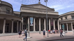 Dolly shot towards the Solis Theatre, Montevideo, Uruguay Stock Footage