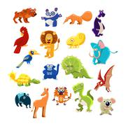 Southern Animals Set Stock Illustration