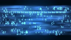 Stock Video Footage of Data stream futuristic animated technology background