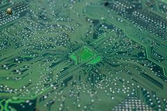 Closeup the motherboard Stock Photos