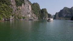 Ha Long Bay in Vietnam Stock Footage