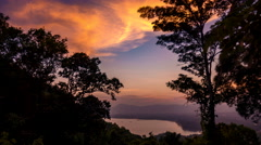 Asia Sunset Twilight with motion blur - stock footage