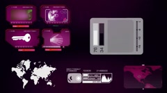 World - Global Map - Analysis - purple - stock footage