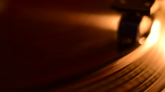 Vintage Record Player Close up Dolly shot Stock Footage
