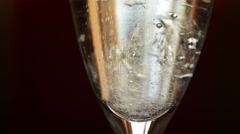 Champagne Pouring Into A Glass Stock Footage