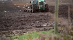 Tractor Ploughing Stock Footage