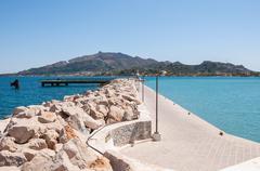 Empty port in Zakynthos - stock photo