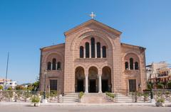 Saint Dionysios Church in Zakynthos city Stock Photos