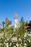 Tower of Saint Dionysios Church in Zakynthos Stock Photos