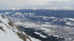 Innsbruck seen from the top of a mountain Stock Footage