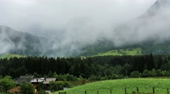 Foggy mountains in Austria Maurach time-lapse - stock footage