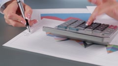 Accountant delivers financial report. - stock footage