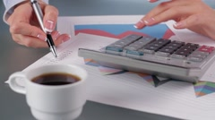 Secretary is tired to work. Stock Footage