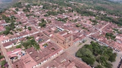Barichara, Colombia aerial shot Stock Footage