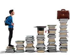 Graduate and find work - stock photo