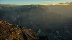 Time Lapse Sunrise at Waimea Canyon State Park , Grand Canyon of the Pacific Stock Footage