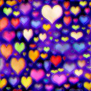 Colorful hearts texture Stock Illustration